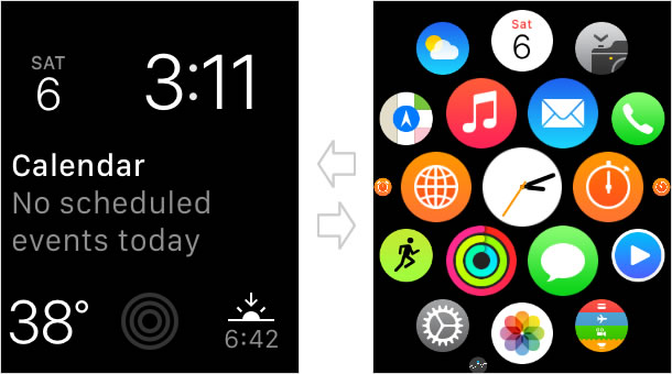 Watch face and Home screen