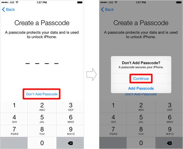 Create passcode