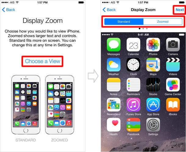 Display zoom