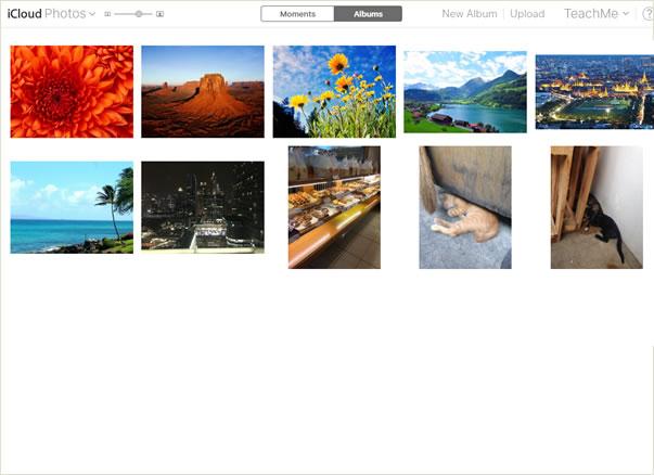 app Photos จะปรากฏขึ้น
