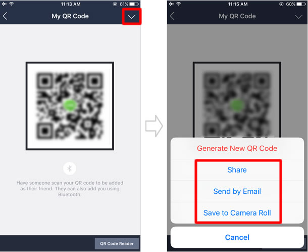 QR code option